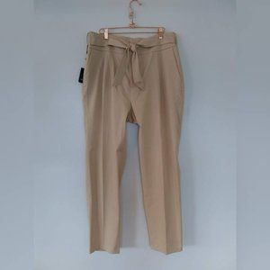 Massimo Dutti High Waist Tie Front Trouser Pants